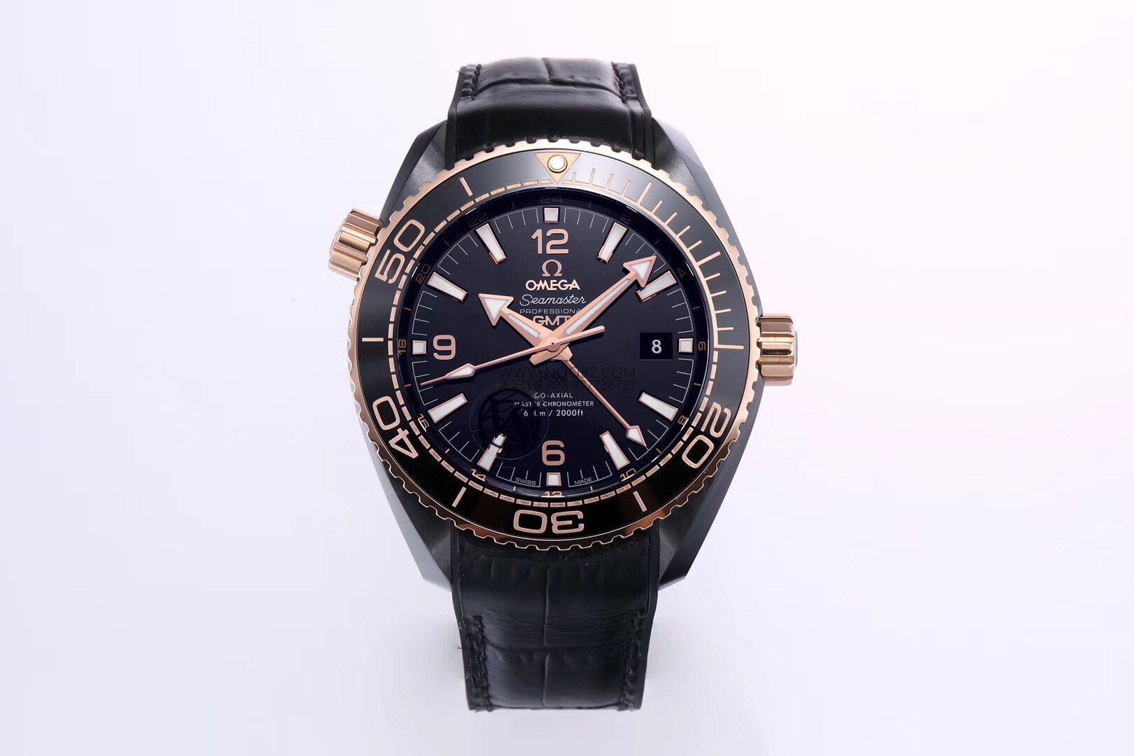 VS厂欧米茄深海之王间玫瑰金海马600GMT复刻表实拍评测